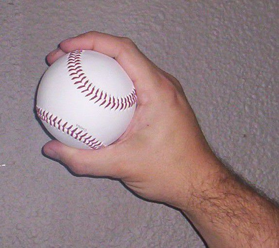 Side view of a slider grip.