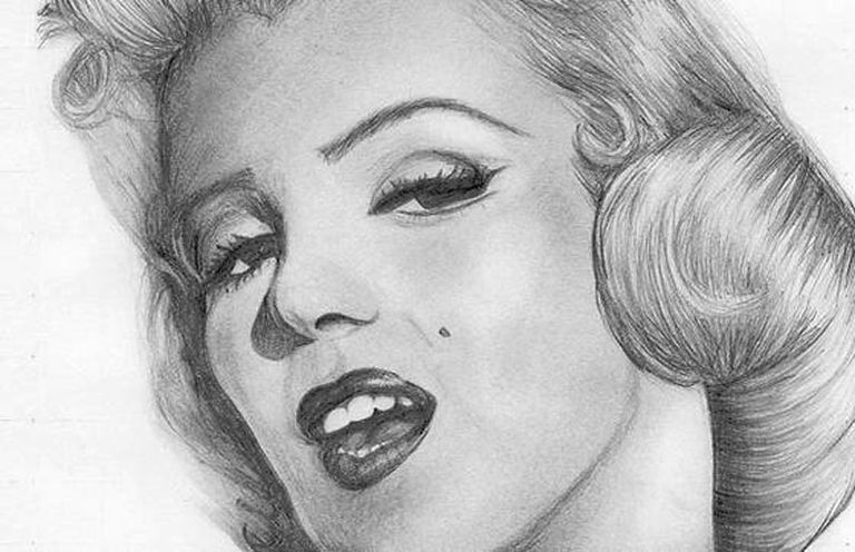 Portrait of Marilyn Monroe in Pencil