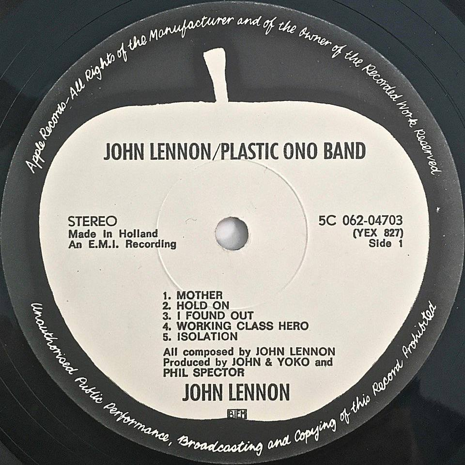A european pressing of john lennon
