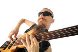 Man playing bass
