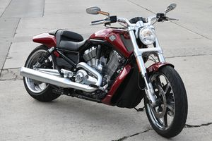 2009 V-Rod Harly Davidson Motorcycle in red
