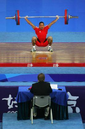 Cuba's Sergio Alvarez (Bronze Medalist: Men's 56kg) - 2008 Weightlifting International Invitational