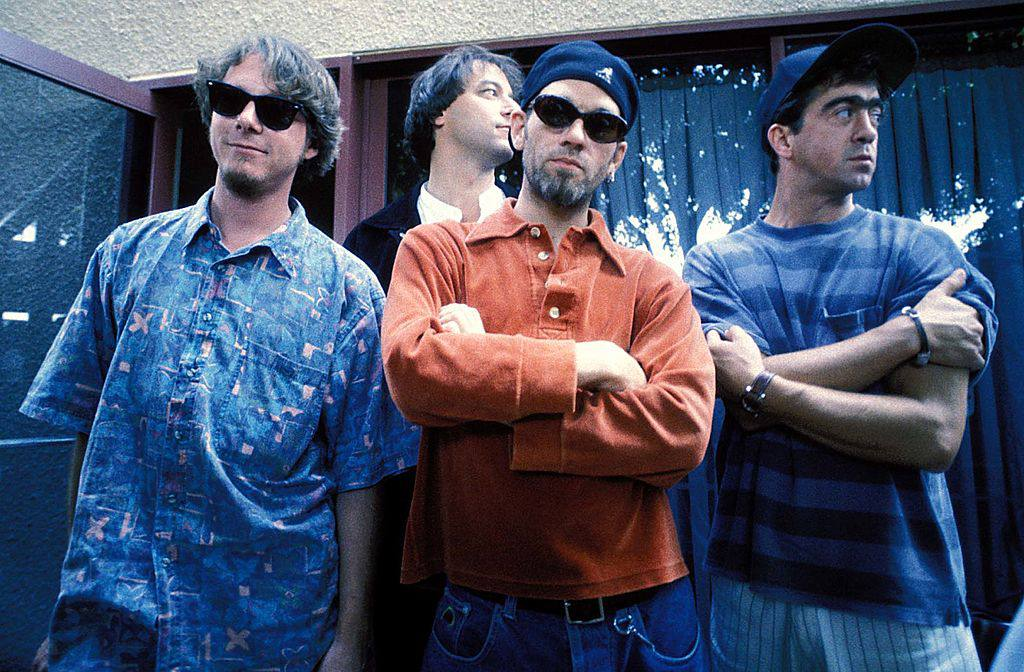Mike Mills, Bill Berry, Peter Buck and Michael Stipe
