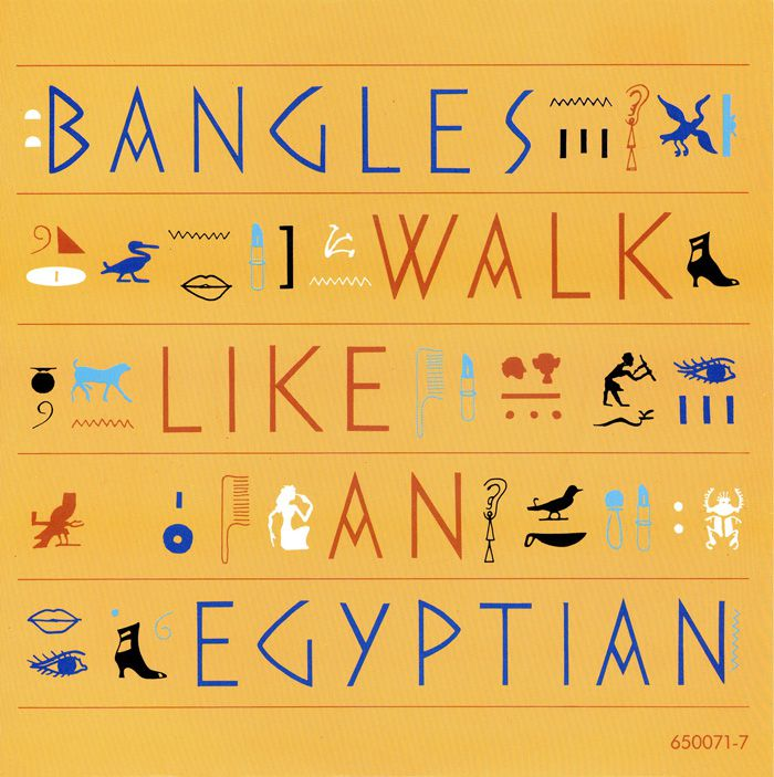 "Bangles - ""Walk Like an Egyptian"""