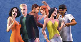 The Sims 2 characters dancing together
