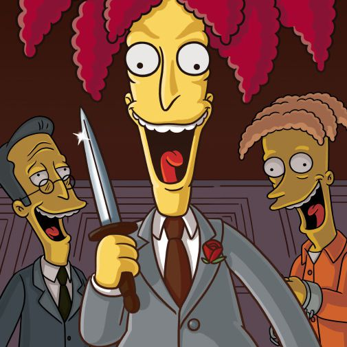 Sideshow Bob in Funeral for a Fiend