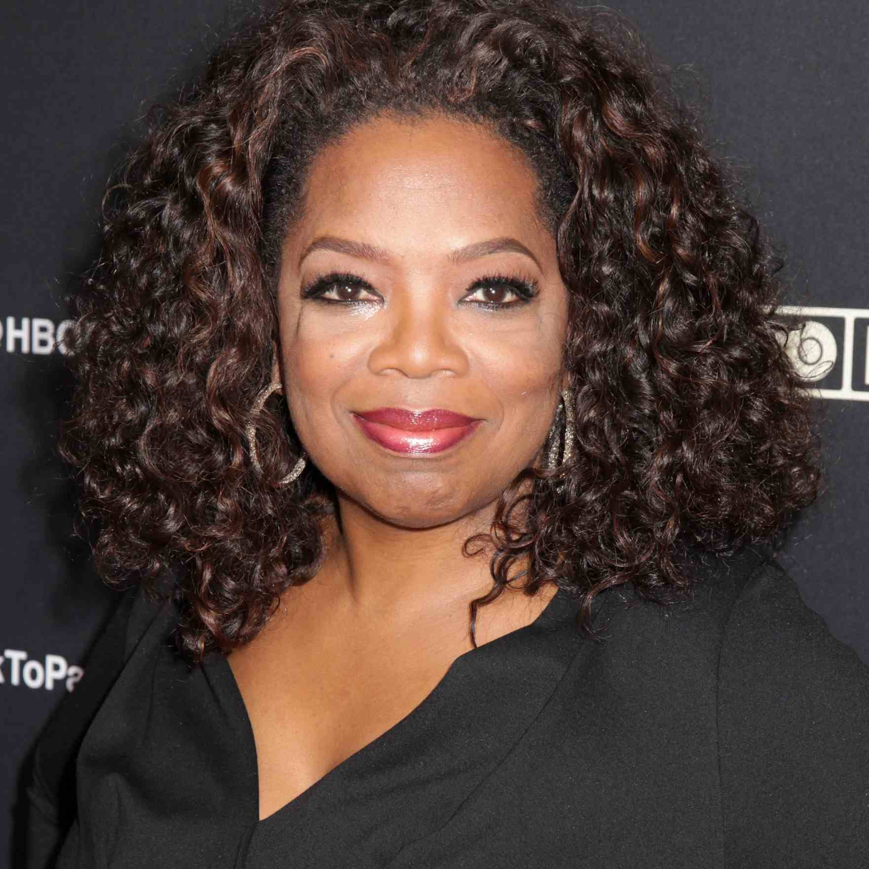 Oprah Winfrey with curly hair