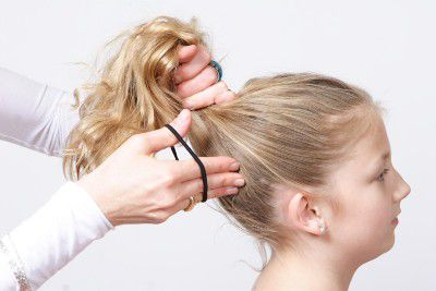 Ballet bun ponytail