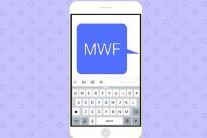 MWF acronym on cell phone