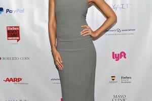 Jessica Alba in a sheath dress