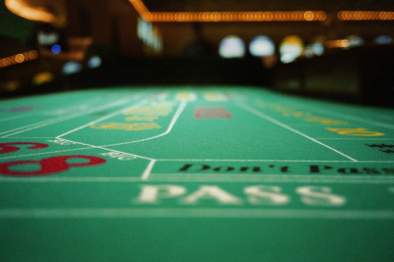 Craps table in casino, close-up