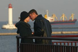 Cargo Ships Ly Their Trade At Odessa Port