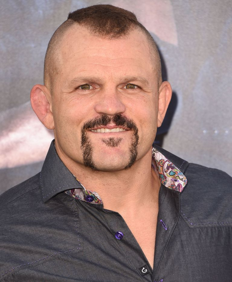 Portrait of Chuck Liddell in denim and paisley shirt.