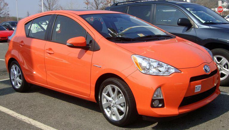 Orange Toyota Prius