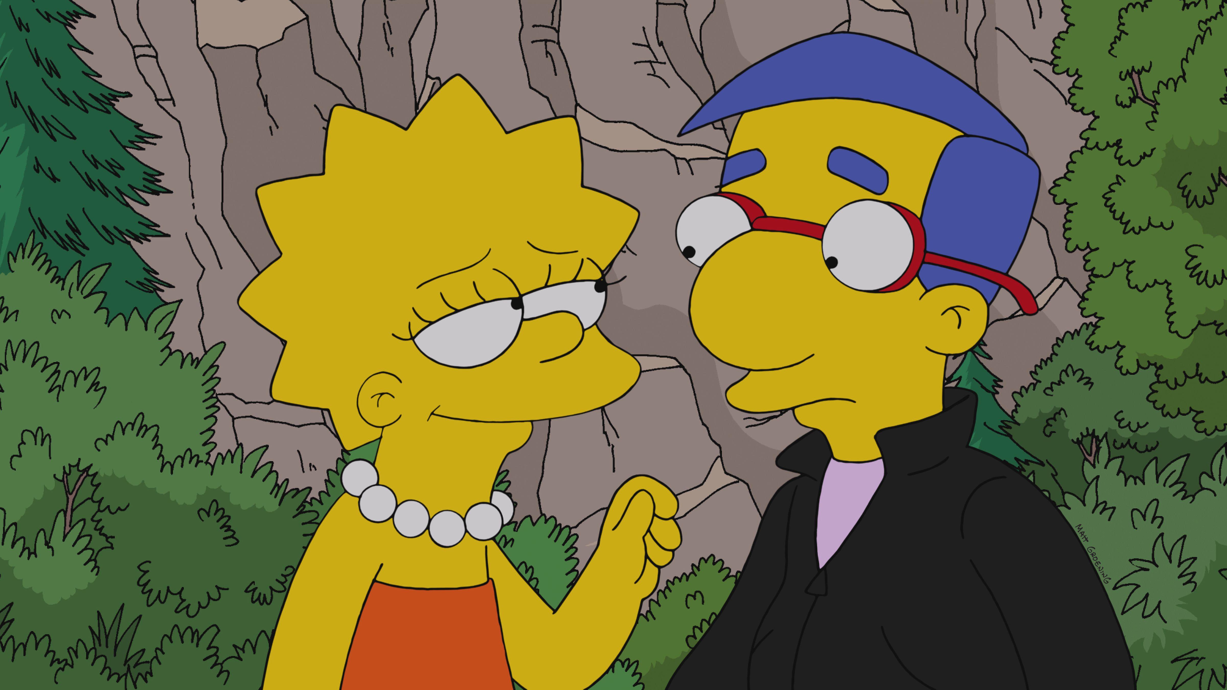 Lisa Simpson and Milhouse