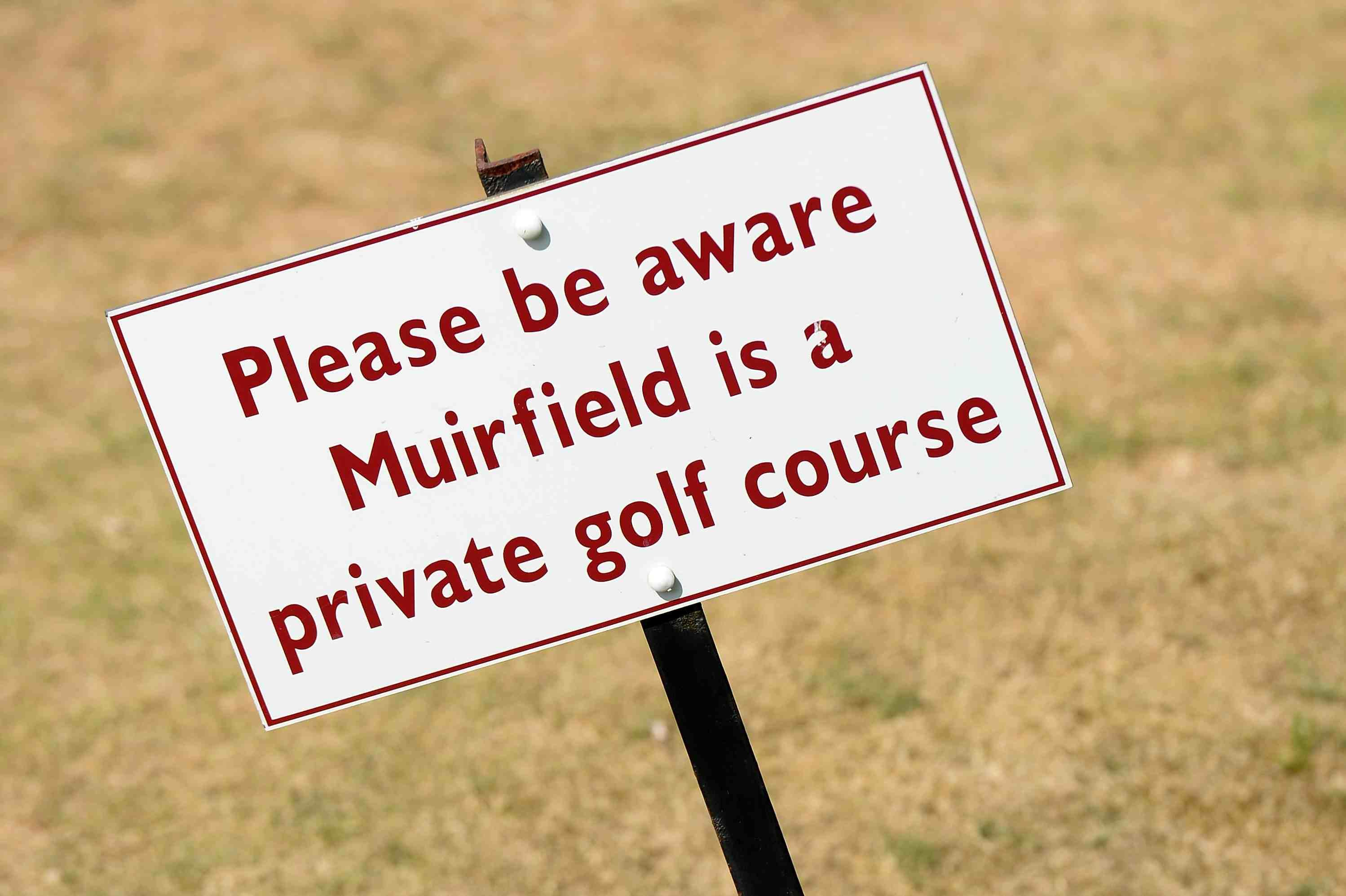 Muirfield golf course sign