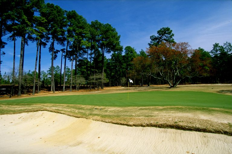 4th green on the No. 2 Course at Pinehurst photographed in 1999
