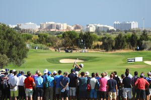 Golfer Tees off in the Portugal Masters Tournament