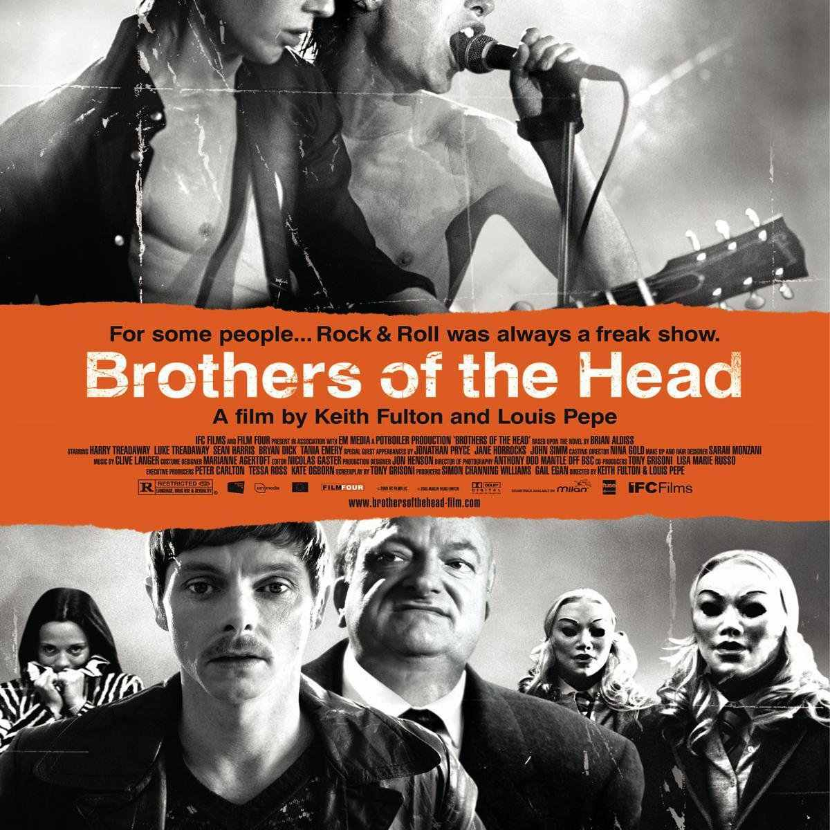 """""""Brothers of the Head"""" movie cover art."""