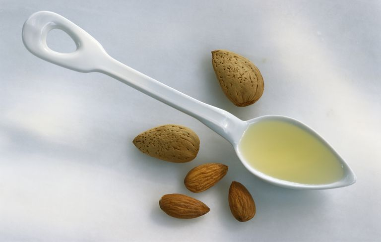 Almond oil is a hydrating option for body scrubs.