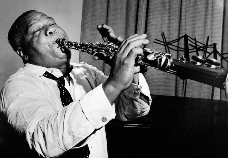 Sidney Bechet plays clarinet