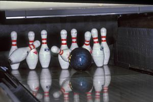 Bowling Ball Hitting pins