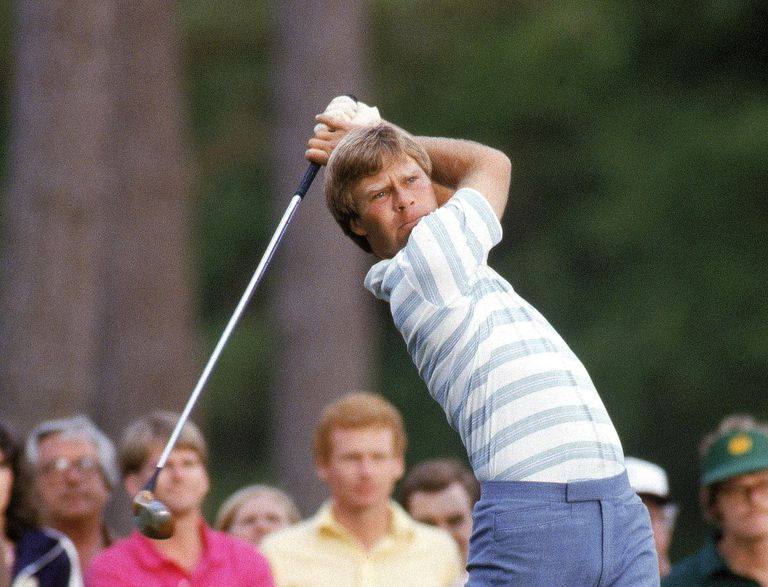 1984 Masters winner Ben Crenshaw hitting a drive