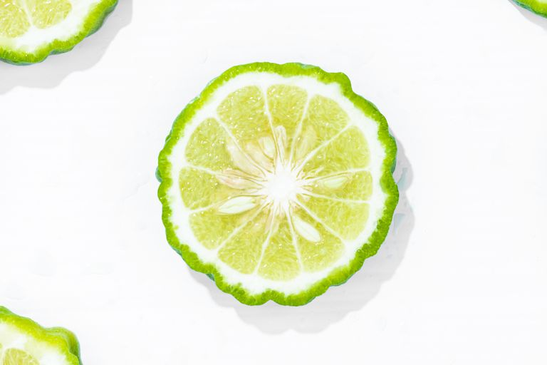 Slice of bergamot fruit