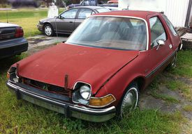 1976 Pacer in salvage yard