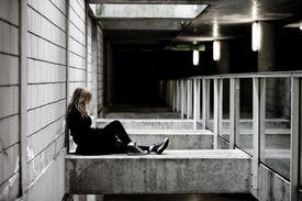 Teenage Girl at Night