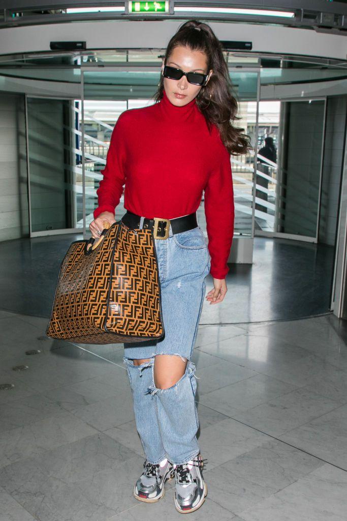Bella Hadid at the airport