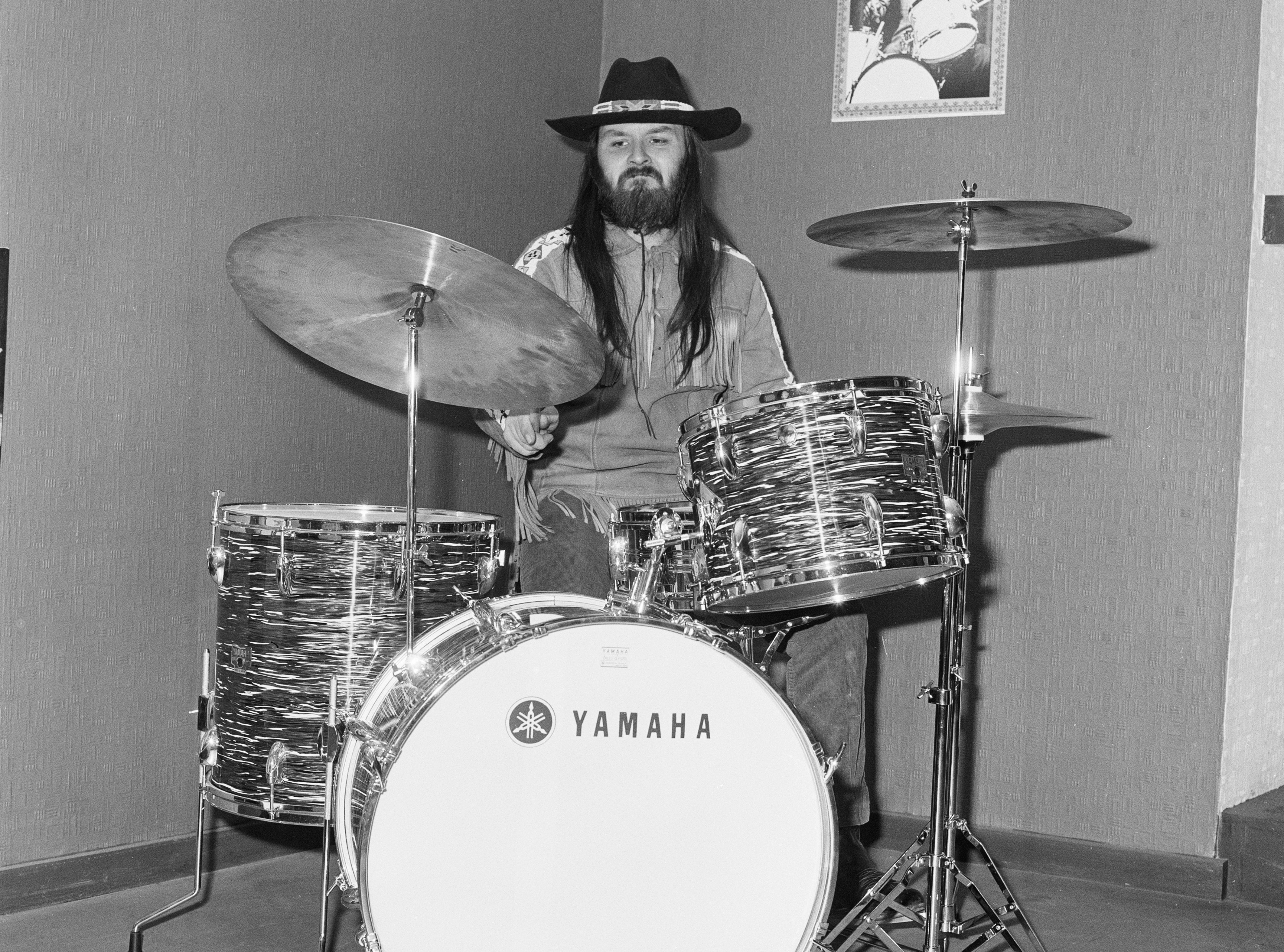 Keef Hartley playing drums