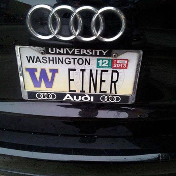 weinder license plate