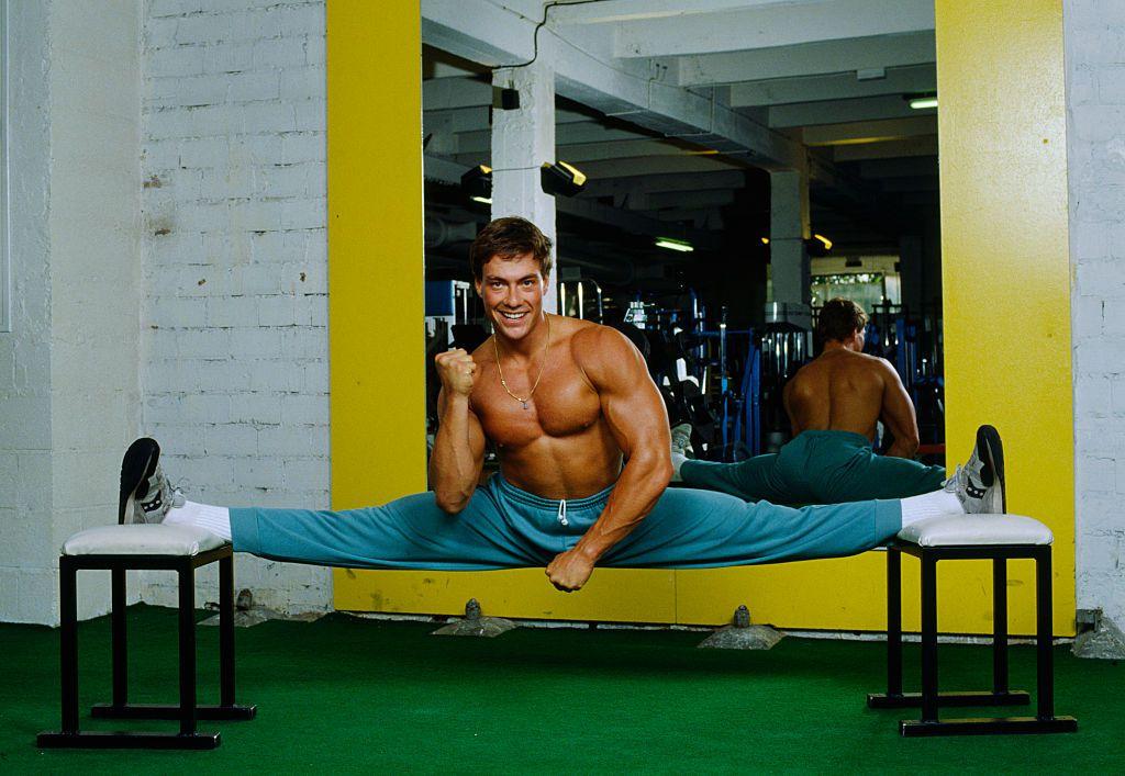 Actor Jean-Claude Van Damme at Gym