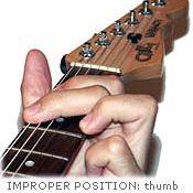 Guitar Chord Improper Position