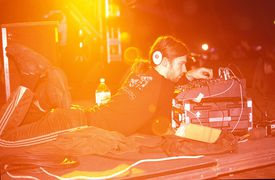 Ambient artist Aphex Twins perform