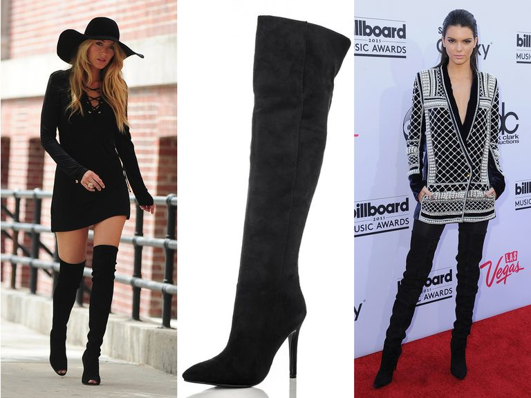 7749a16efff How to Style Over-the-Knee Boots Like a Celebrity