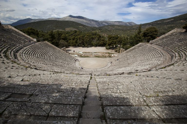 Theatre of Epidaurus Peloponnese Greece