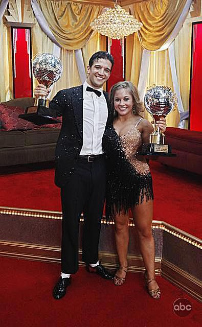 Gymnast Shawn Johnson wins DWTS (Dancing with the Stars) with partner Mark Ballas
