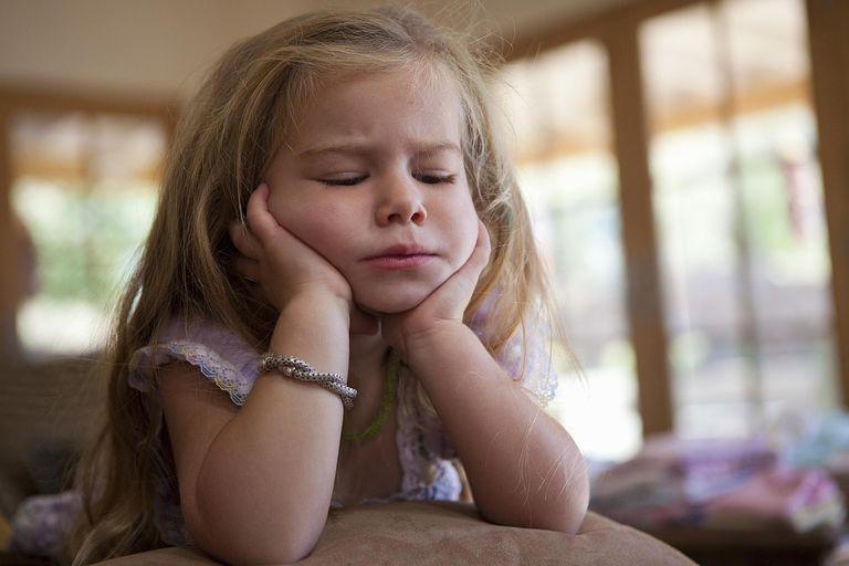 Portrait of upset 3 year old girl