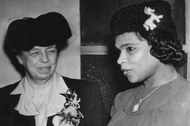 Marian Anderson and Eleanor Roosevelt in 1943.