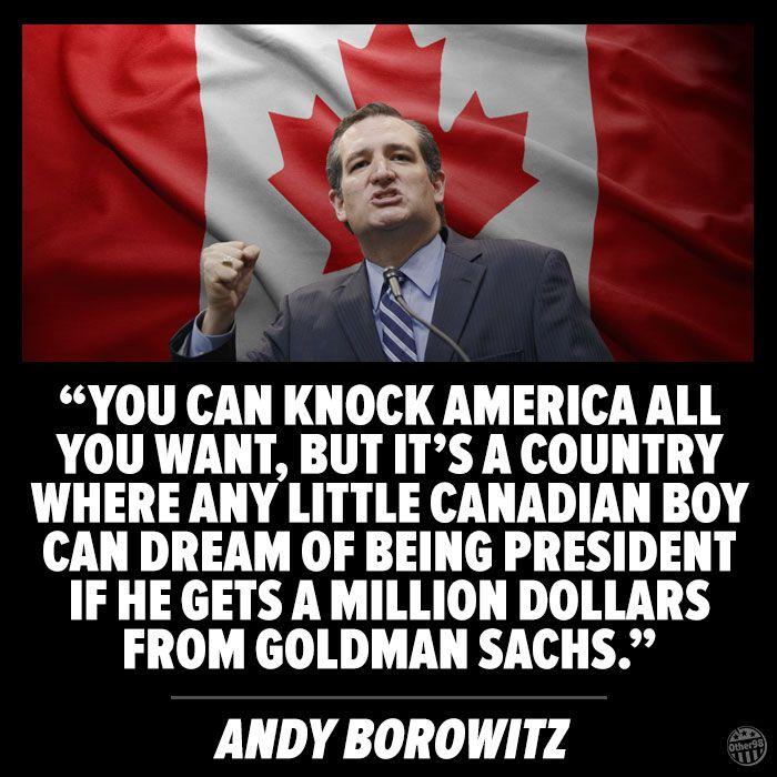 Ted Cruz Cartoon Canadian Dream