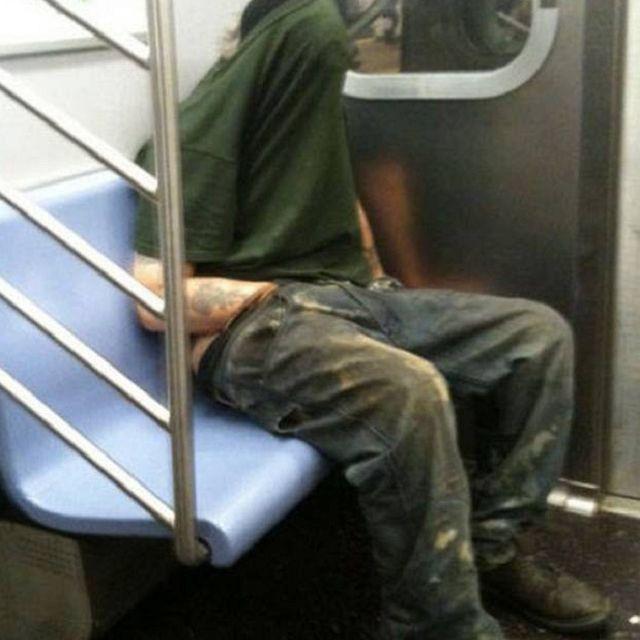 self PDA on subway
