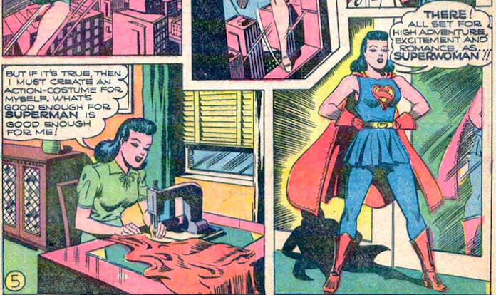 Comic panels from Action Comics #60 (1943)