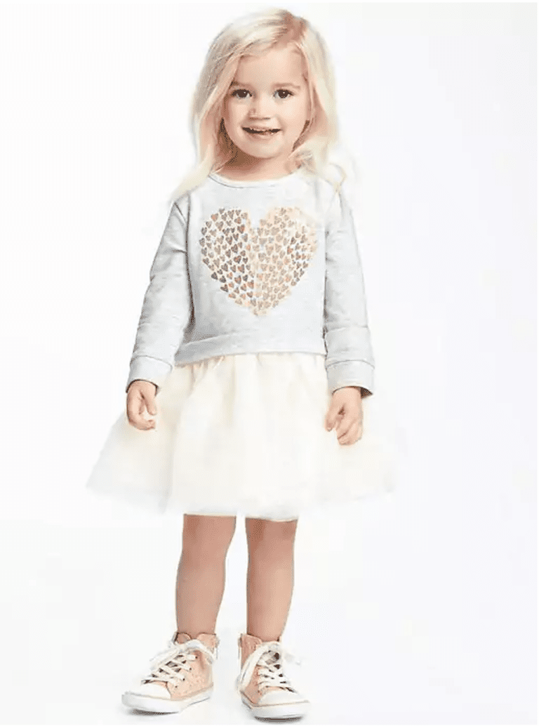 b3a7920c365e Old Navy 2-in-1 Foil-Heart Graphic Tutu Dress for Toddler