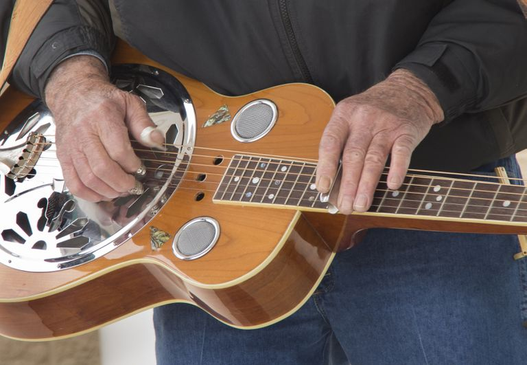 Man playing Dobro