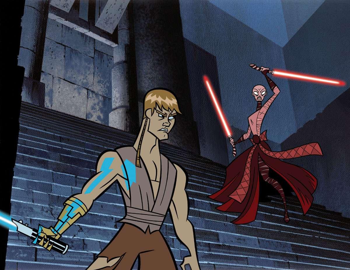 'Clone Wars' Anakin and Asajj