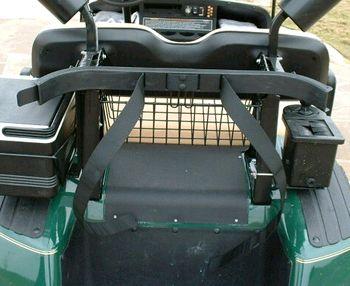 How to attach a golf bag to a golf cart
