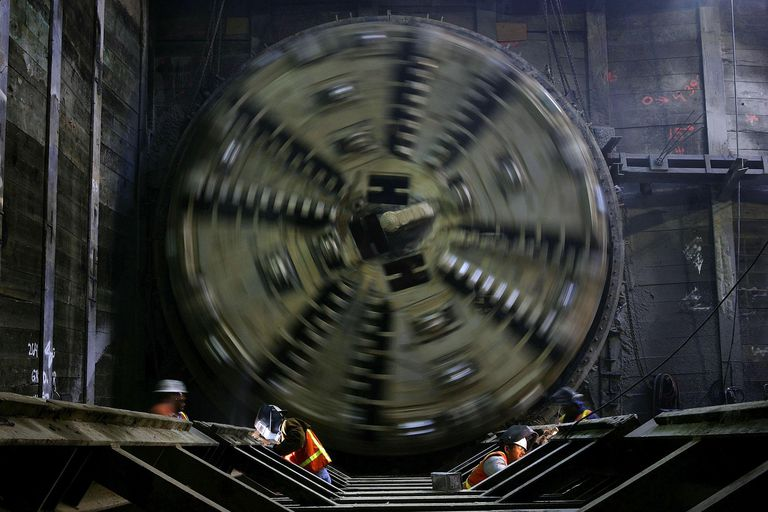 Massive Tunnel Boring Machine