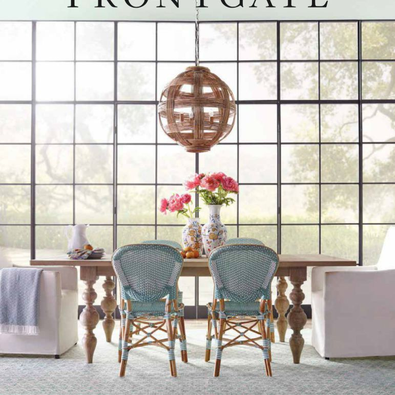 The Spring 2019 Frontgate catalog featuring a large open room